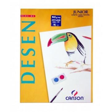 Bloc de desen, A4, 160 g/mp, 16 file, CANSON