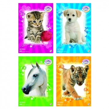 Bloc desen A4, 75 file, 70g/mp, HERLITZ Pretty Pets