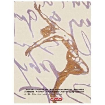 Bloc de desen, A3, 90-100 g/mp, 15 file, coperta bicolora, HERLITZ