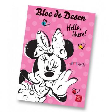 Bloc de desen, A4, 160 gmp, 16 file, PIGNA Premium Minnie Mouse