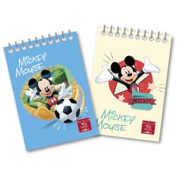 Bloc notes A6, cu spira, 60 file, matematica, PIGNA Mickey Mouse