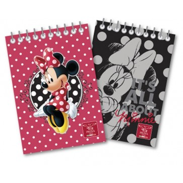 Bloc notes A6, cu spira, 60 file, matematica, PIGNA Minnie Mouse