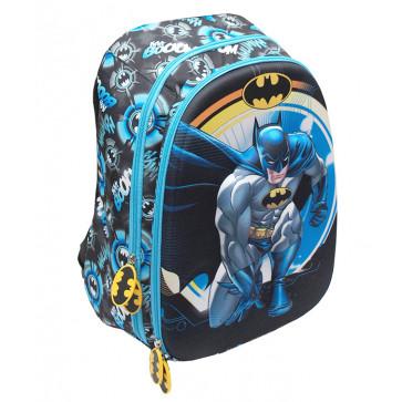 Ghiozdan, clasele 1-4, 1 fermoar, PIGNA Batman 3D
