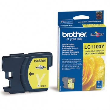 Cartus, yellow, BROTHER LC1100Y