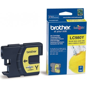 Cartus, yellow, BROTHER LC980Y