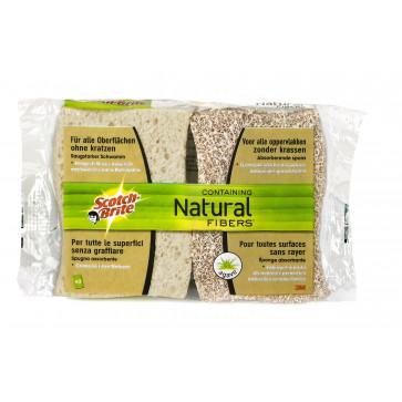 Burete, cu fibre naturale, 2 buc/set, SCOTCH-BRITE Soft