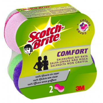 Burete ergonomic, 2 buc/set SCOTCH-BRITE Confort Delicat Colors