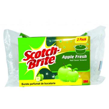 Burete, protectie unghii si parfum de mere, 2 buc/set, SCOTCH-BRITE