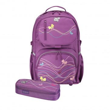 Rucsac ergonomic + penar tip etui, HERLITZ Be.Bag Cube Bundle Stars