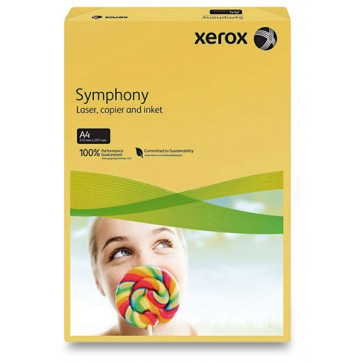 Hartie colorata, A4, 160 g/mp, buttercup, 250 coli/top, XEROX Symphony
