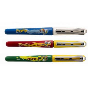 Stilou din plastic, cu desene, diverse culori, BORGHINI Funny V120