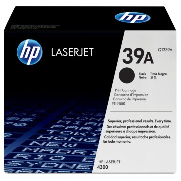 Toner, black, 39A, HP Q1339A