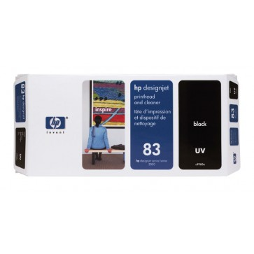 Cartus, black, nr. 83, printhead si curatare, HP C4960A UV