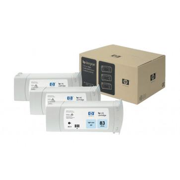 Cartus, light cyan, nr. 83, 3 cartuse/set, HP C5076A UV