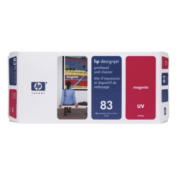 Cartus, magenta, nr. 83, printhead si curatare, HP C4962A UV