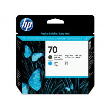 Printhead, matte black - cyan, Nr. 70, HP C9404A