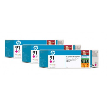 Cartus, magenta, nr. 91, 3 cartuse/set, HP C9484A