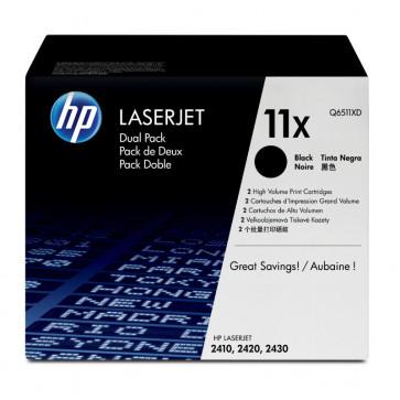 Toner, black, 11X, 2 tonere/set, HP Q6511XD
