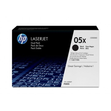 Toner, black, Nr. 05X, 2 buc./set, HP CE505XD