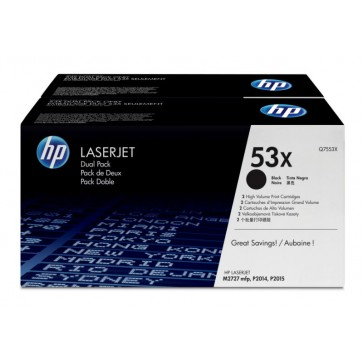 Toner, black, Nr. 53X, 2 buc./set, HP Q7553XD