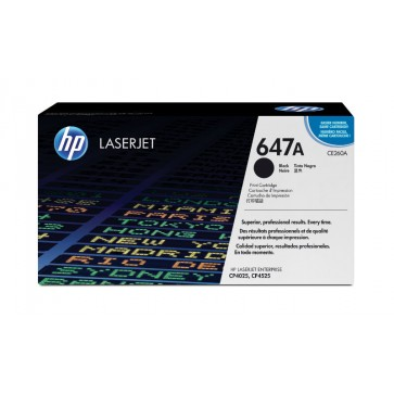 Toner, black, 647A, HP CE260A