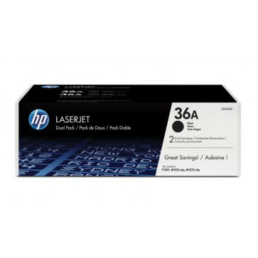 Toner, black, 36A, 2 tonere/set, HP CB436AD