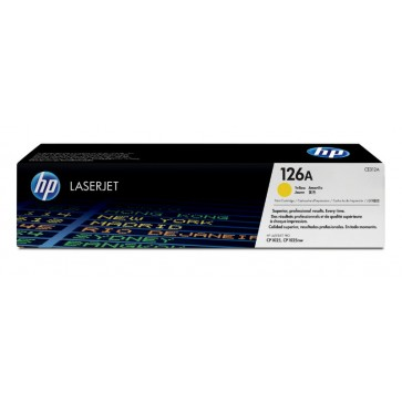 Toner, yellow, Nr. 126A, HP CE312A