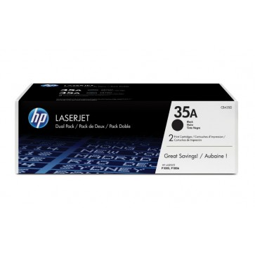 Toner, black, Nr. 35A, 2 buc./set, HP CB435AD