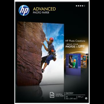 Hartie foto HP Advanced Inkjet A4, 250 g/mp, 25 coli/top, lucios