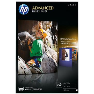 Hartie foto HP Advanced Inkjet 10 x 15cm, 250 g/mp, 100 coli/top, lucios