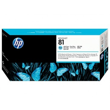 Printhead, light cyan, Nr. 81, HP C4954A Dye