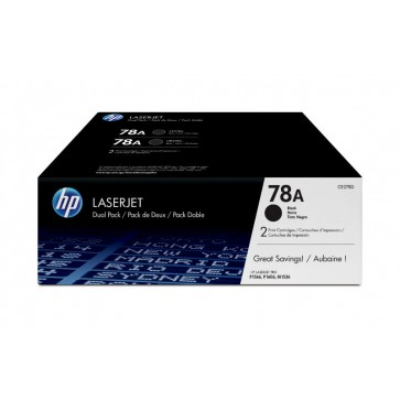 Toner, black, 78A, 2 buc/cutie, HP CE278AD