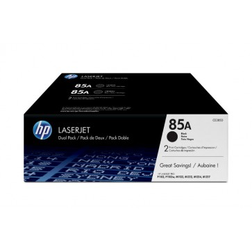 Toner, black, Nr. 85A, 2 buc./set, HP CE285AD