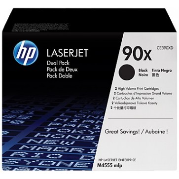 Toner, black, Nr. 90X, 2 buc./set, HP CE390XD