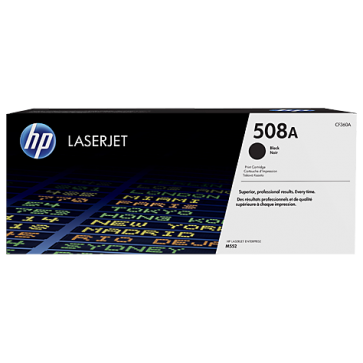 Toner, black, 508A, HP CF360A