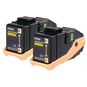 Toner, double pack, yellow, EPSON C13S050606