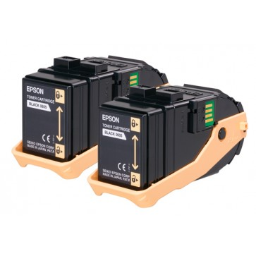 Toner, double pack, black, EPSON C13S050609
