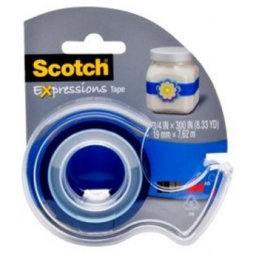 Banda adeziva decorativa, bleu inchis, dispenser, SCOTCH