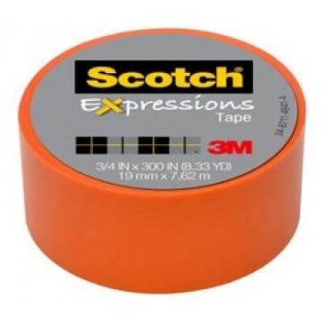 Banda adeziva decorativa, oranj, SCOTCH Expressions