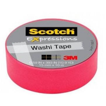 Banda adeziva decorativa, roz, 15mm x 10m, SCOTCH Expressions Washi Tape