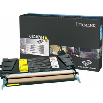 Toner, yellow, LEXMARK C5242YH