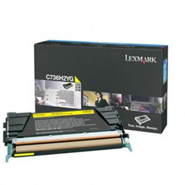 Toner, yellow, LEXMARK C736H2YG