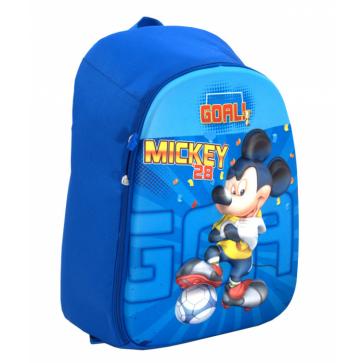 Ghiozdan, clasele 1-4, 1 fermoar, albastru, 3D, PIGNA Mickey Mouse