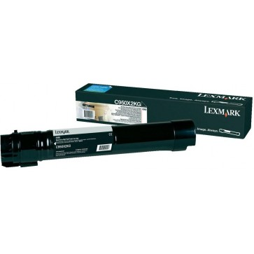 Toner, black, LEXMARK C950X2KG