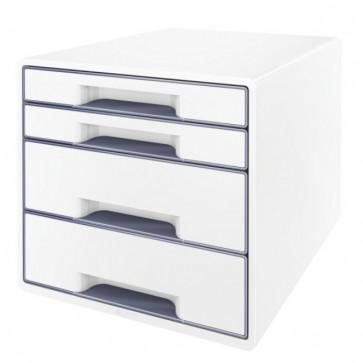 Cabinet cu sertare, 4 sertare, gri, LEITZ WOW