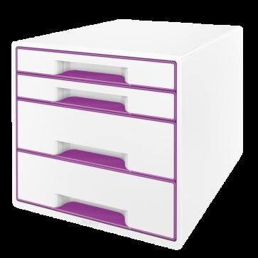 Cabinet cu sertare, 4 sertare, mov, LEITZ WOW