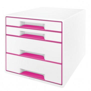 Cabinet cu sertare, 4 sertare, roz, LEITZ WOW