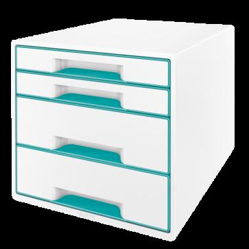 Cabinet cu sertare, 4 sertare, turcoaz, LEITZ WOW