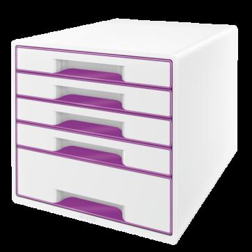 Cabinet cu sertare, 5 sertare, mov, LEITZ WOW