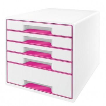 Cabinet cu sertare, 5 sertare, roz, LEITZ WOW